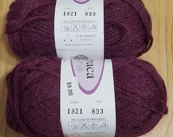 SALE! Brambleberry Baby Alpaca Yarn (110 yards each) - Classic Baby Alpaca Yarn 1821 DK Weight - 100 Percent Baby Alpaca - Sale - 33% Off