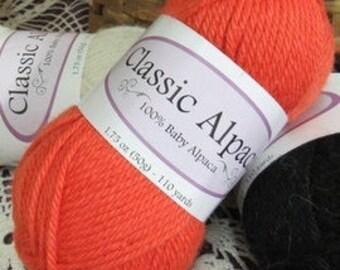 SALE! Poppy Alpaca Yarn (110 yards per skein) - Classic Baby Alpaca Yarn 2110 DK Weight - 100 Percent Baby Alpaca - Sale - Reduced 33%