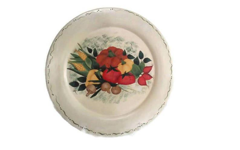 Garden Vegetable Wood Plate