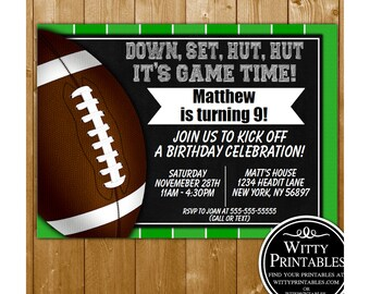 INSTANT DOWNLOAD Football Invitation Party Printable Birthday Invite PDF Kids Printables For Parties FB01IN