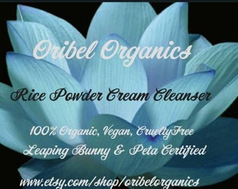 Rice Powder Daily Face Wash / Cream Cleanser/ Face Mask/ Brightening/ Hydrating/ Natural/ Oribel/ Vegan