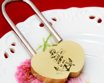 """Extralarge Love lock, Wedding favours, 2 1/4""""(60 mm) Love lock, Love lock for bride and groom, engrave padlock, Love lock with engraving"""