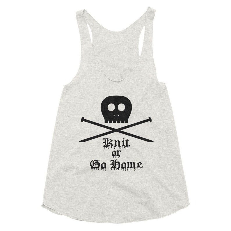Gilmore Girls Womens Tank Top Knit Or Go Home Racerback image 0