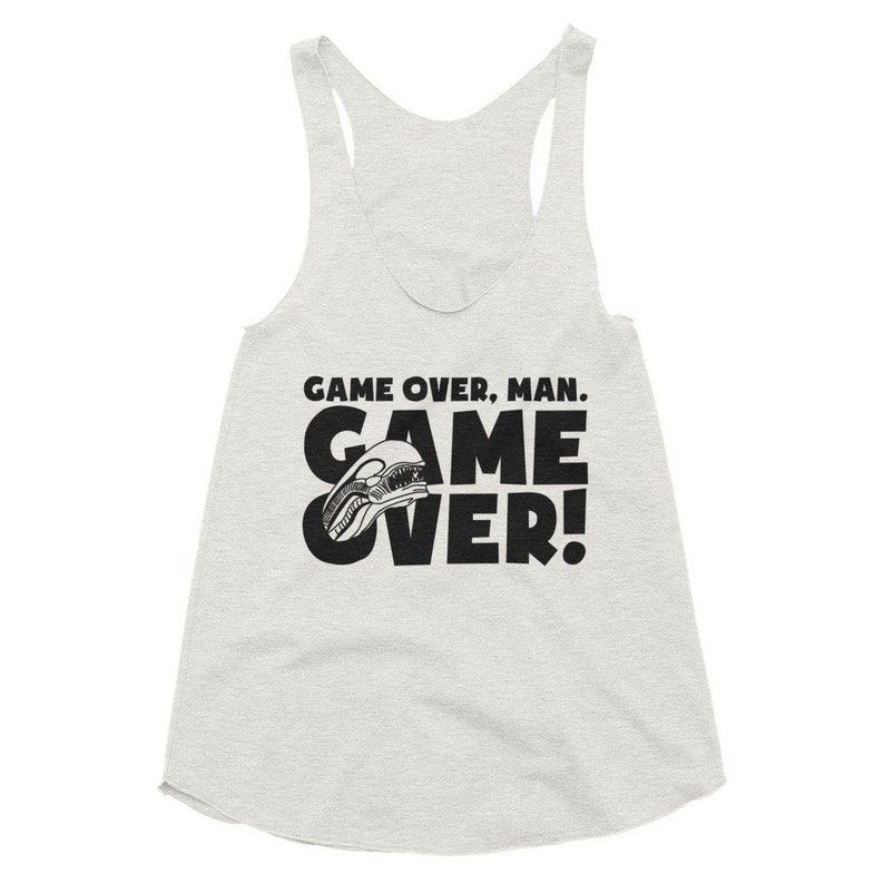 Aliens Womens Tank Top Game Over Man Horror Film Racerback image 0