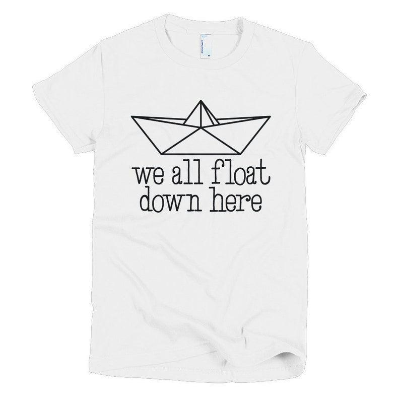 8380f1fd65ec Stephen Kings It Womens T-Shirt We All Float Down Here | Etsy