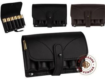 Leather Hunting Belt Cartridge Holder Handmade Shell Pouch Shotgun Rifle