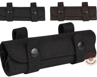 Leather Cartridge Holder Bullet Pouch .22 cal Belt Ammo Wallet