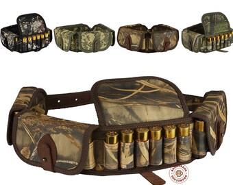 Cartridge Belt Case, Cartridge Holder, Ammo Pouch, Ammo Bag, Shell Pouch Shotgun Nylon Hunting Bandolier 12 16 Gauge