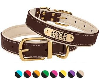 Personalized Leather Dog Collar, Custom Dog Collar Leather, Dog Collars, Leather Dog Collars Perosnalized, Puppy Collar for Small Dogs