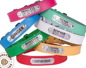 Dog Collar Personalized, Dog Collar, Pet Collar, Custom Dog Collar, Leather Dog Collar, Puppy Collar, Small Dog Collar, Personalize Dog Gift