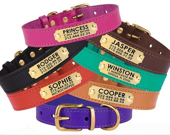 Dog Collar Leather, Dog Collar Personalized, Cat Collars, Custom Dog Collar, Pet Collar, Small Dog Collar, Dog Tag