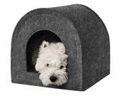 Dog House, Personalized Dog Bed with Removable Pillow, Dog Cave Bed, Custom Pet Beds for Dogs, Small Dog Bed, Soft Cat Furniture