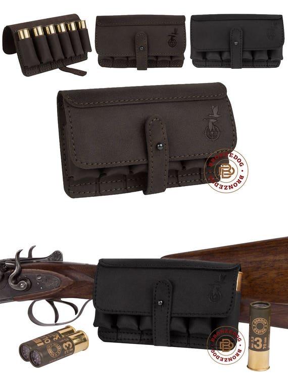 Hand made shotgun cartridge holder Natural leather