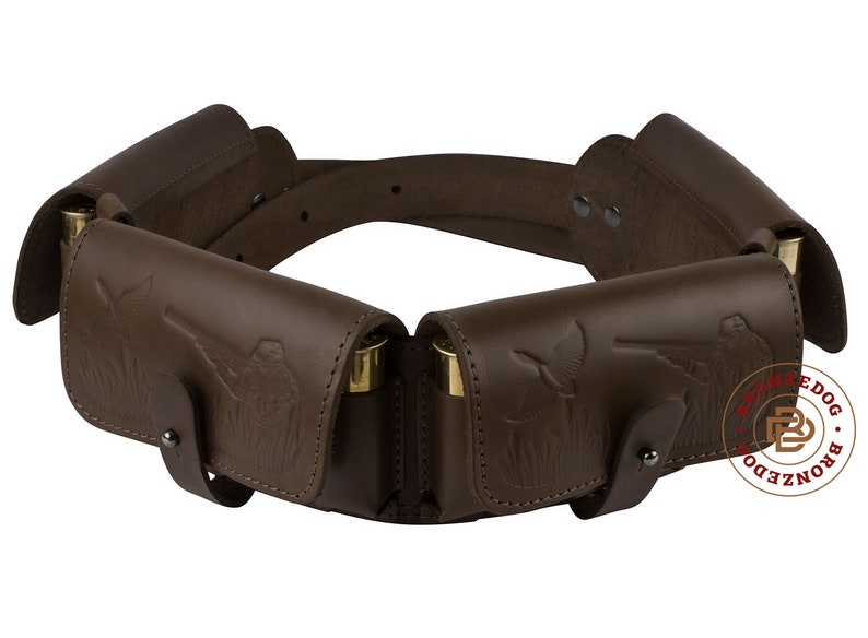 New Leather Rifle Cartridge Holder Pouch Belt Ammo.8 Shells To Rank First Among Similar Products Made In Europe