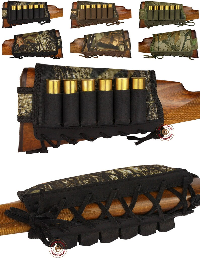 To Rank First Among Similar Products New Leather Rifle Cartridge Holder Pouch Belt Ammo.8 Shells Made In Europe