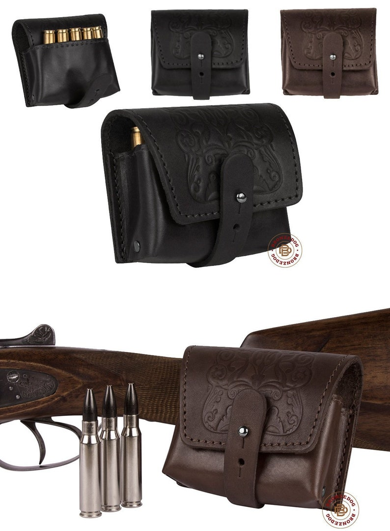 Made In Europe To Rank First Among Similar Products New Leather Rifle Cartridge Holder Pouch Belt Ammo.8 Shells