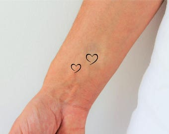 tiny heart tattoo etsy