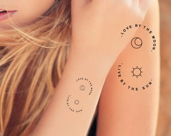 c748e315d88bf live by the sun love by the moon minimalist temporary tattoos to place on  armband, small minimalist temporary tattoos of sun and moon