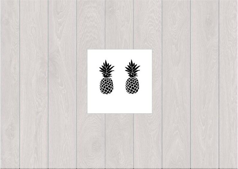 3677da32f 2 pineapple temporary tattoos /summer temporary tattoo /small | Etsy