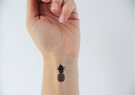 2 Pineapple Temporary Tattoos Summer Tattoo Small