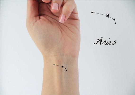 6 Zeichen Widder In Temporare Tattoo Tattoo Sternzeichen Etsy