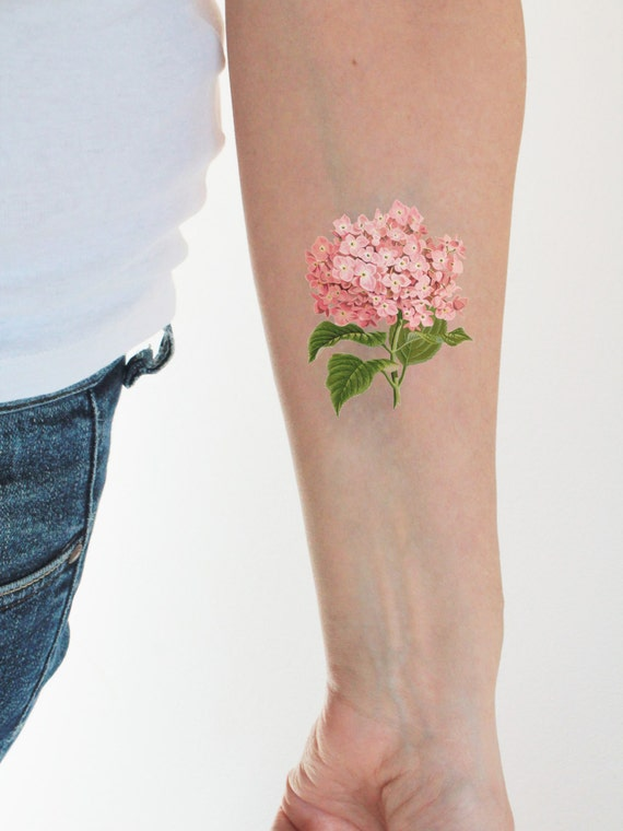 Floral Vintage Temporary Tattoo Etsy