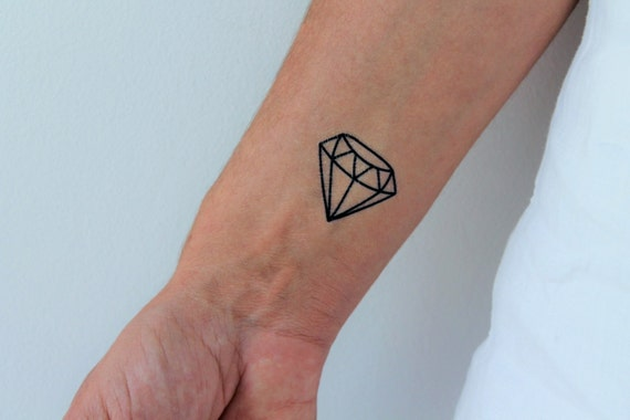 temporäre geometrische diamant 6 tattoos | etsy