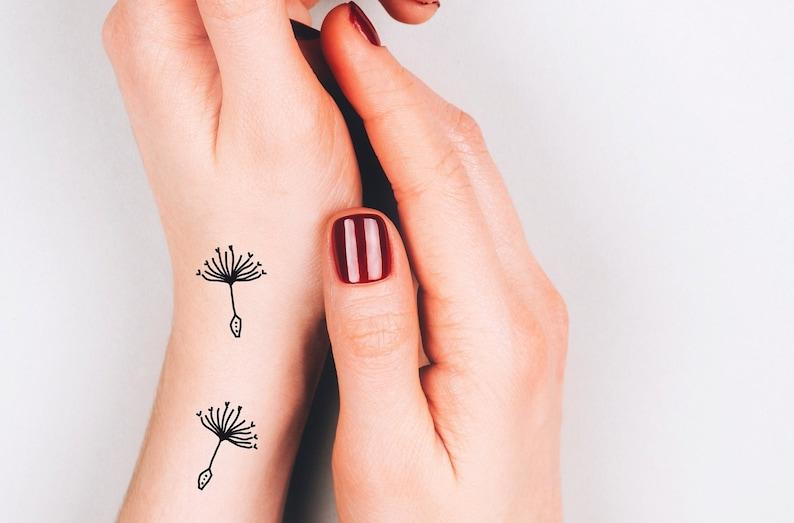 37f526170 6 dandelion temporary tattoos / wild flower tattoo / artistic | Etsy