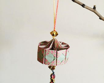 Lantern suspended for Chinese new year multicolor origami