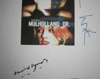 Mulholland Dr. Signed Movie Film Screenplay Script X3 autographs David Lynch Naomi Watts Justin Theroux signature mystery suspense film