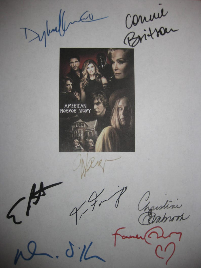 c66f1507ee American Horror Story Signed Script Screenplay X8 Autograph