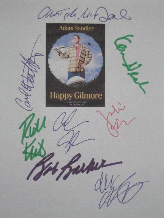 happy gilmore signed film movie script screenplay x8 adam