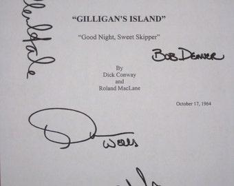 Gilligan's Island Signed TV Script Screenplay Autograph X5 Bob Denver Alan Hale Jr. Tina Louise Dawn Wells Natalie Schafer signature classic