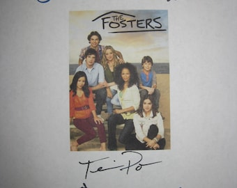 The Fosters Signed Script Screenplay X5 Autgraphs Teri Polo Sherri Saum Jake T Austin Maia Mitchell Danny Nucci signatures kid tv show