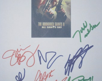 The Boondock Saints II All Saints Day Signed Movie Film Screenplay Script Autographs Sean Patrick Flanery Billy Connolly Norman Reedus