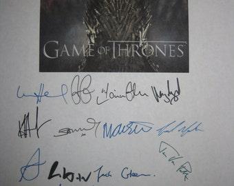 Game of Thrones Signed TV Screenplay Script x20 Autographs Sean Bean George R.R. Martin Mark Addy Nikolaj Coster-Waldau Peter Dinklage Lloyd