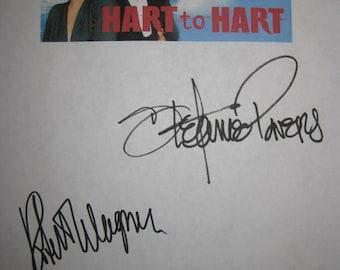 Hart to Hart signed TV Pilot Script Screenplay Autograph Robert Wagner Stefanie Powers Lionel Stander signature classic TV Show