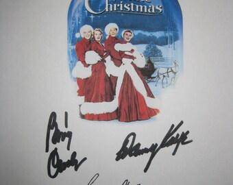 White Christmas Signed Film Movie Screenplay Script X4 Autographs Bing Crosby Danny Kaye Rosemary Clooney Vera-Ellen signatures holiday film