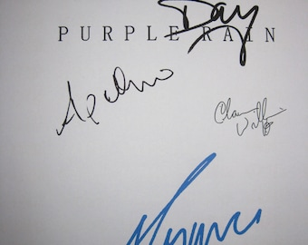 Purple Rain Signed Film Movie Script Screenplay X4 Autograph Prince Morris Day Apollonia Kotero Clarence Williams III signature musical