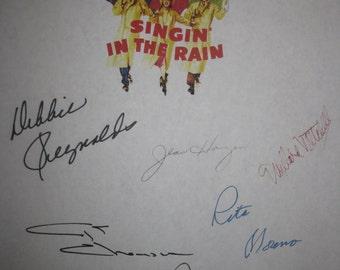 Singin' in the Rain Signed Film Movie Script Screenplay X11 Autograph Gene Kelly Debbie Reynolds Donald O'Connor Rita Moreno Jean Hagen