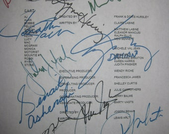 General Hospital Signed TV Script Screenplay 1995 Autograph X12 Michael Sutton Kimberly McCullough Jack Wagner Lilly Melgar Lilly Melgar