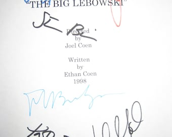 The Big Lebowski Signed Film Movie Screenplay Script Jeff Bridges John Goodman Julianne Moore Steve Buscemi Philip Seymour Hoffman Tara Reid