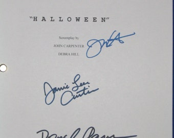 Halloween Script Movie Film Signed Screenplay Autograph 4X Jamie Lee Curtis P.J. Soles Donald Pleasence John Carpenter signatures horror