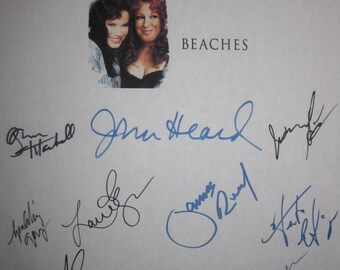 Beaches Signed Movie Film Script Screenplay X13 Autographs Bette Midler Barbara Hershey John Heard Mayim Bialik Spalding Gray James Read
