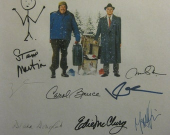 Planes Trains and Automobiles Signed Film Movie Script Screenplay Autograph X16 John Candy Steve Martin John Hughes Kevin Bacon signature