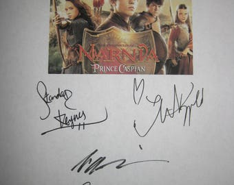 The Chronicles of Narnia: Prince Caspian Signed Film Movie Screenplay Script X8 Autograph Ben Barnes Georgie Henley Skandar Keynes Dinklage