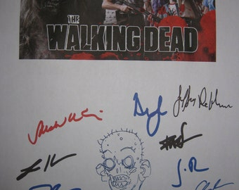 The Walking Dead Signed Screenplay TV Script X12 Autograph Andrew Lincoln Robert Kirkman Frank Darabont Jon Bernthal Sarah Wayne Callies