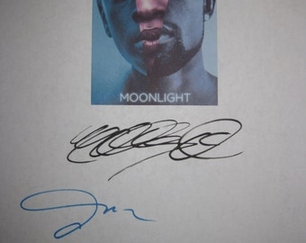 Moonlight Signed Film Movie Screenplay Script Autograph Mahershala Ali Janelle Monae Naomie Harris signature oscar nominated film