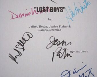 Lost Boys Signed Movie Film Screenplay Script Corey Haim Kiefer Sutherland Jason Patric Corey Feldman Alex Winter Dianne Wiest Hughes horror