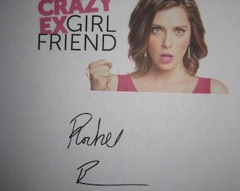 Crazy Ex Girlfriend Signed TV Pilot Script Screenplay Autograph Rachel Bloom Santion Fontana signature funny sit com